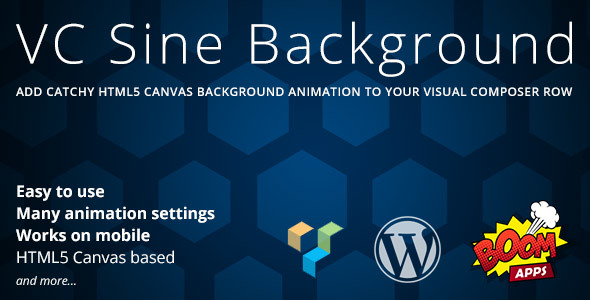 Wordpress Add-On Plugin VC Sine Background