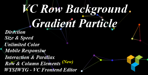 Wordpress Add-On Plugin VC Row Background Gradient Particle