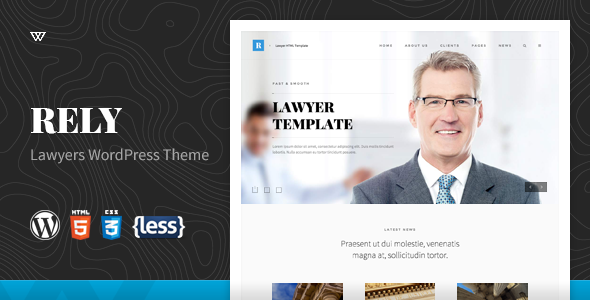 Wordpress Corporate Template Rely - Lawyers WordPress Theme