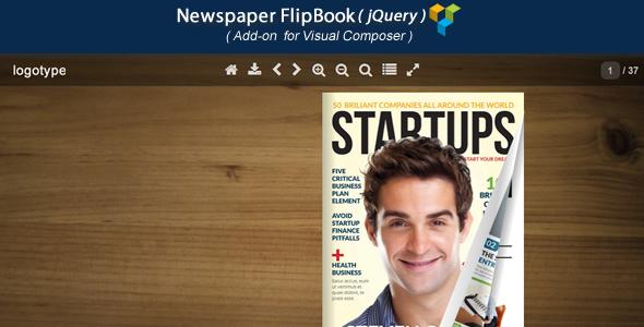 Wordpress Add-On Plugin Visual Composer Add-on - Newspaper jQuery FlipBook
