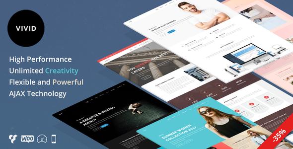Wordpress Kreativ Template Vivid - Unique Multipurpose Theme For Creative Portfolio & Businesses