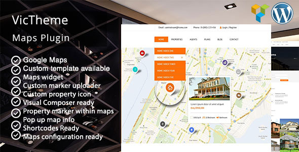 Wordpress Add-On Plugin Vt Visual Composer Google Maps Addons Pack