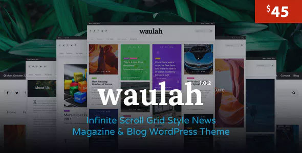 Wordpress Blog Template Waulah - Infinite Scroll Grid Style News Magazine and Blog WordPress Theme