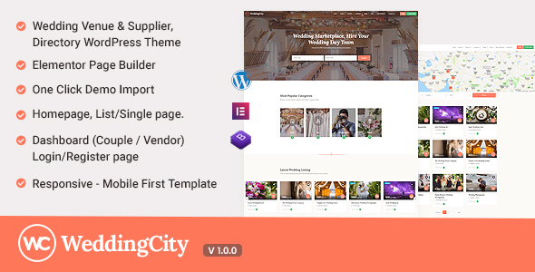 Wordpress Directory Template Weddingcity - Directory & Listing WordPress Theme