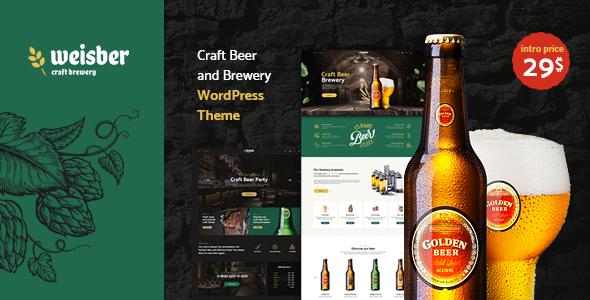 Wordpress Entertainment Template Weisber - Craft Beer & Brewery WordPress Theme