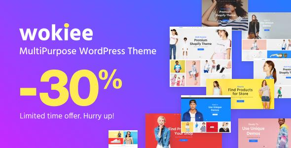 Wordpress Shop Template Wokiee - Multipurpose WooCommerce WordPress Theme
