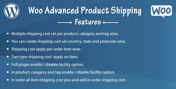 Wordpress E-Commerce Plugin Woo Advanced Product Shipping