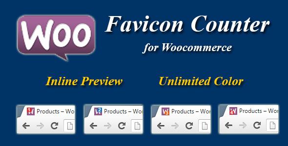 Wordpress E-Commerce Plugin Woocommerce Favicon Counter