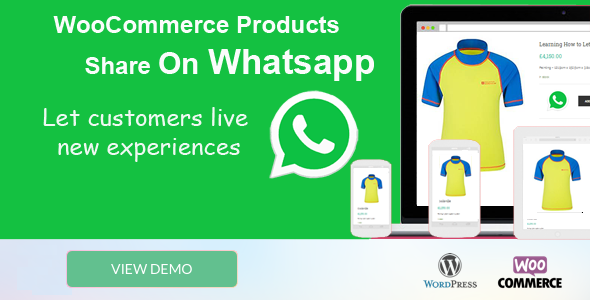 Wordpress E-Commerce Plugin Woocommerce Products Share On Whatsapp
