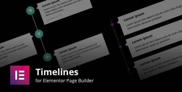 Wordpress Add-On Plugin Timelines for Elementor Page Builder
