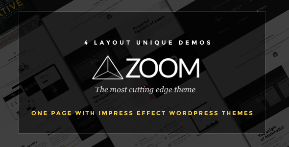 Wordpress Kreativ Template Zoom - Zooming Page and One Page WordPress Theme