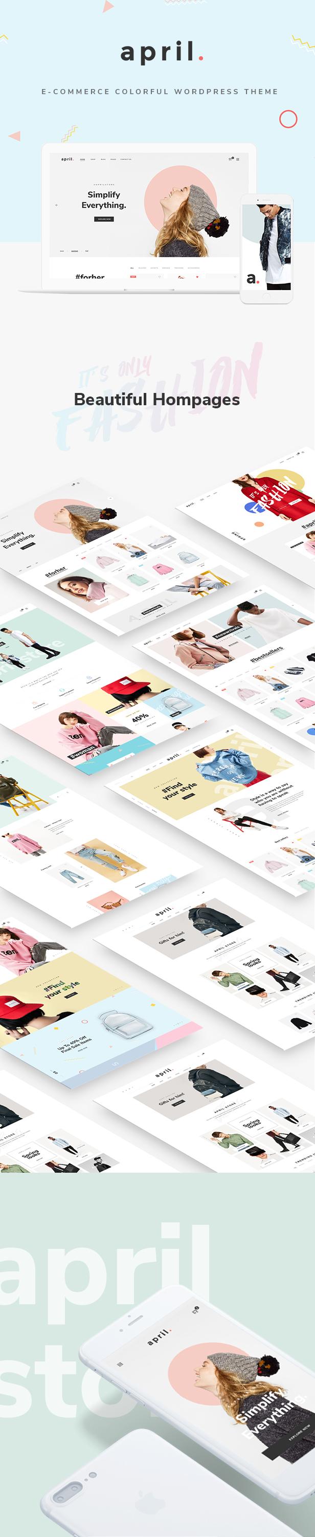APRIL - Wunderbare Mode WooCommerce WordPress Vorlage - 23