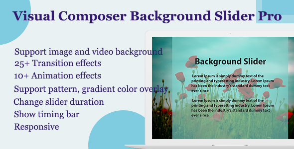 Visual Composer - Background Slider Pro - CodeCanyon Artikel zum Verkauf