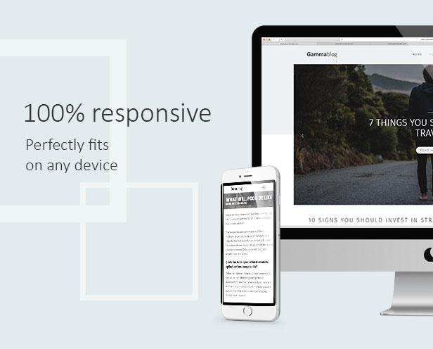 Gamma-Blog - Modernes WordPress-Blogdesign - 1