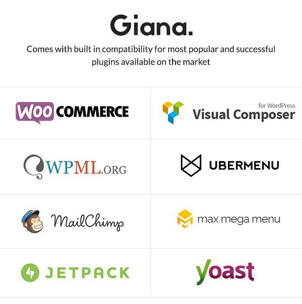 Giana unterstützte Plugins