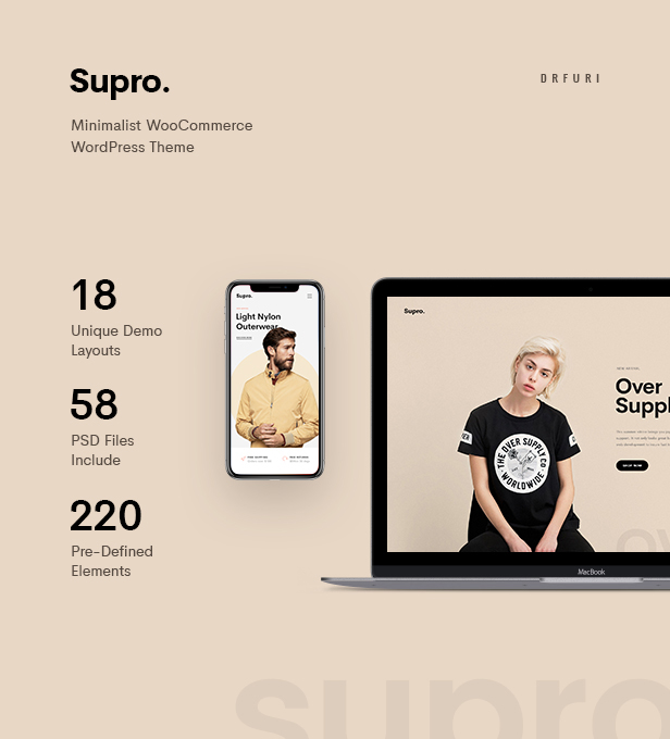 Supro - Minimalistisches AJAX WooCommerce WordPress Vorlage - 7