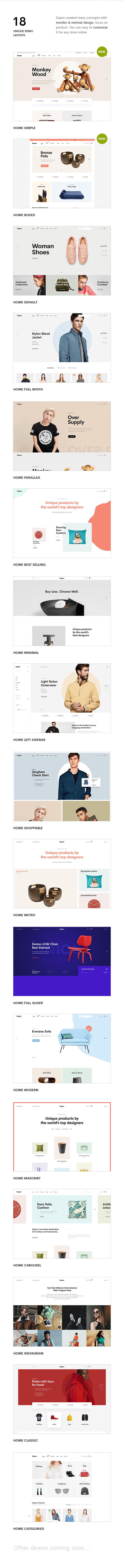 Supro - Minimalistisches AJAX WooCommerce WordPress Vorlage - 8