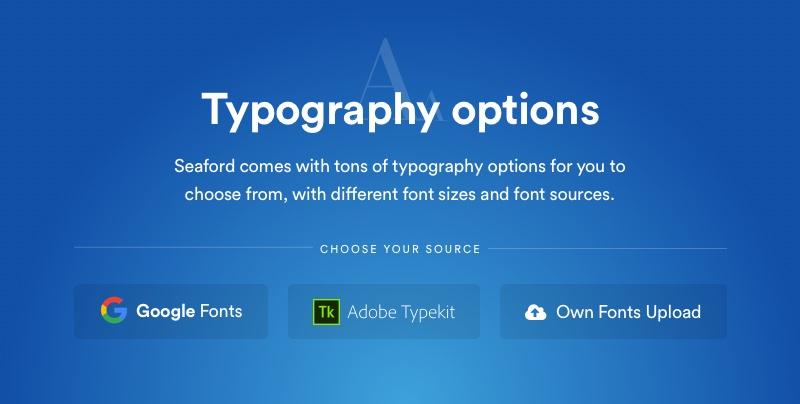 Avena-Typografieoptionen