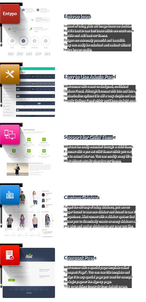 Mint - Responsives Mehrzweck-WordPress-Vorlage - 16