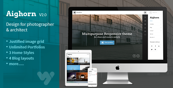 Aighorn WP - Mehrzweck-Responsive-Thema