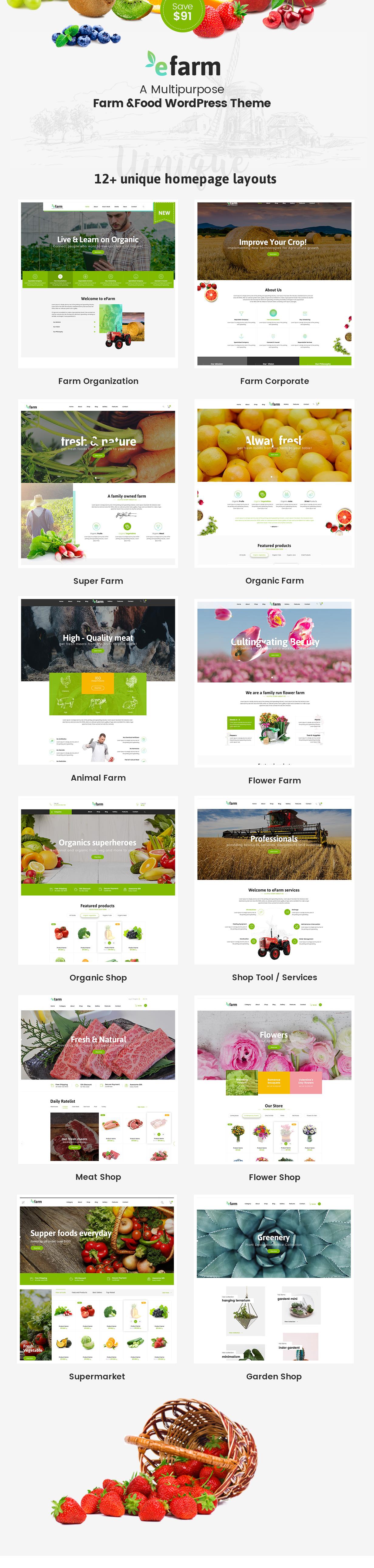 eFarm - Ein vielseitiges WordPress-Layout für Lebensmittel und Farmen - 7