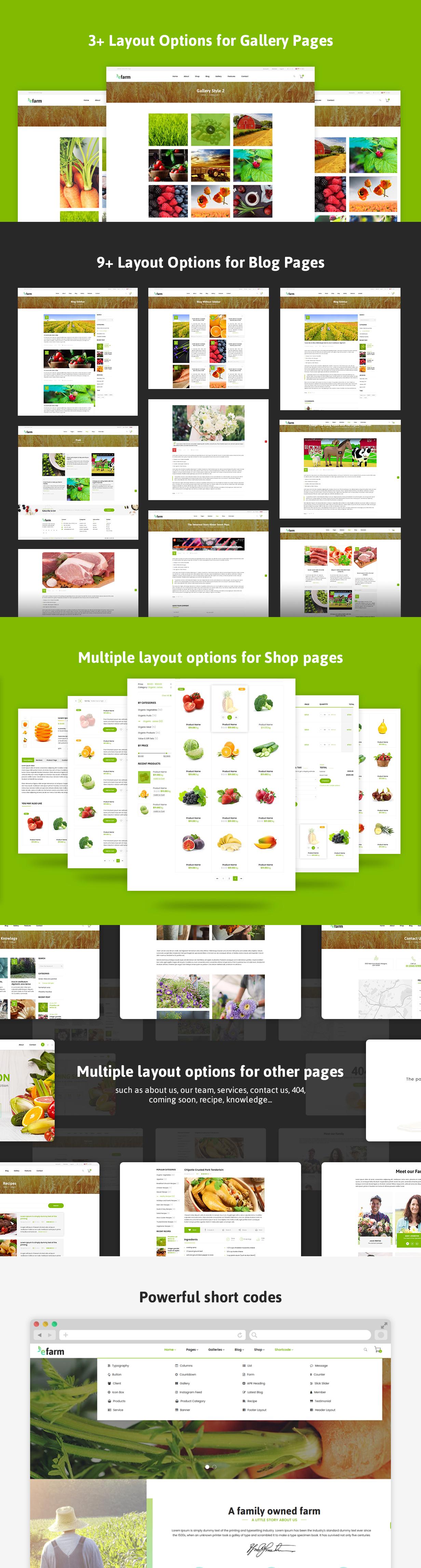 eFarm - Ein vielseitiges WordPress-Layout für Lebensmittel und Farmen - 10