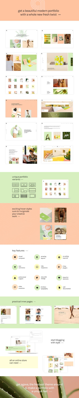 Agava - Fresh Design Portfolio Vorlage - 1