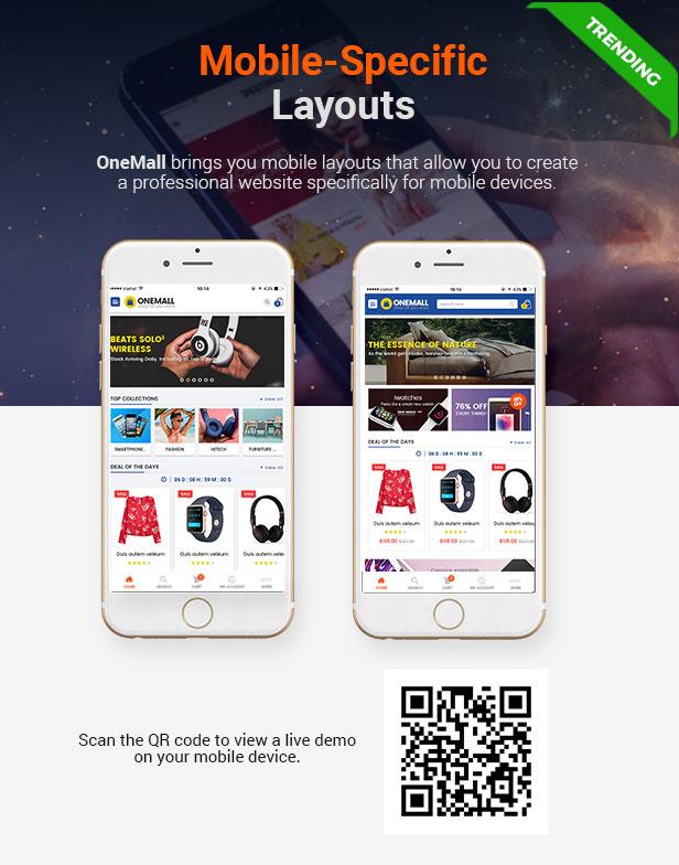 SW OneMall - WooCommerce Layout