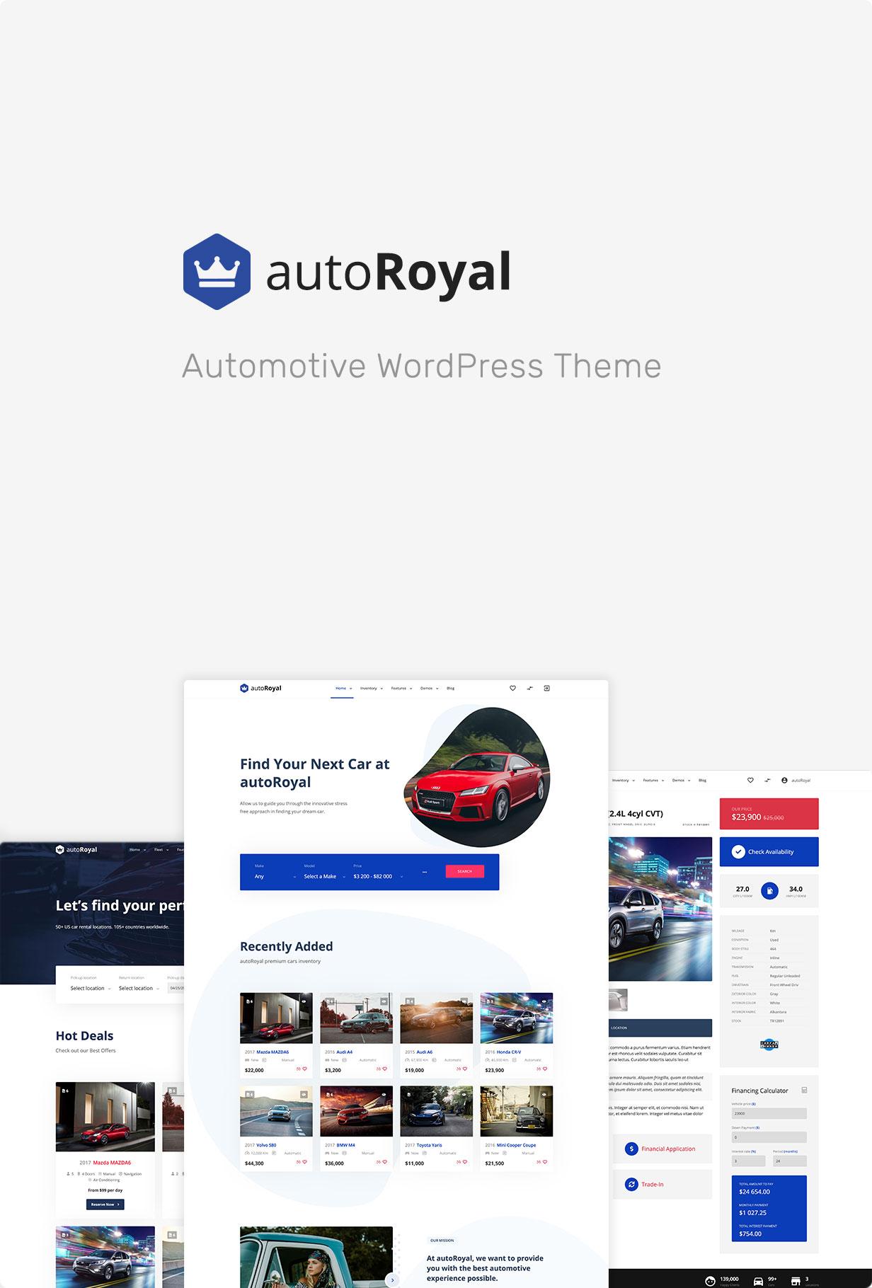 autoRoyal - Automotive WordPress Layout - 4