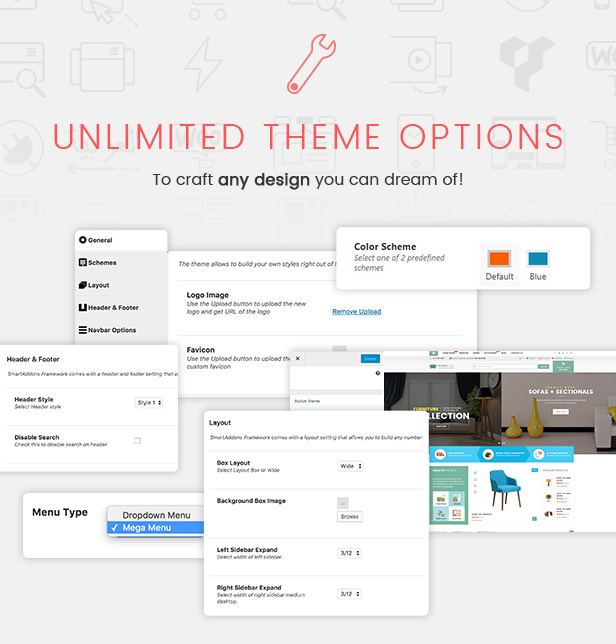 Responsive Furniture WooCommerce WordPress Template - Funktionen