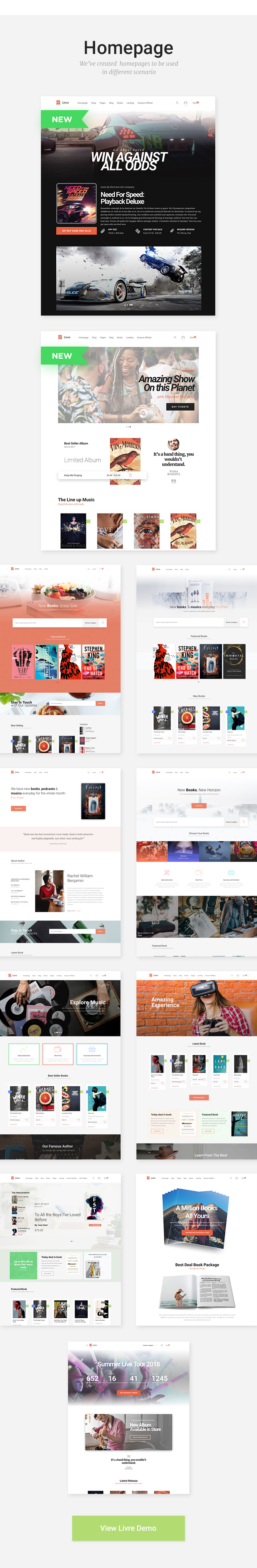 Livre - WooCommerce Template für Buchhandlung - 2