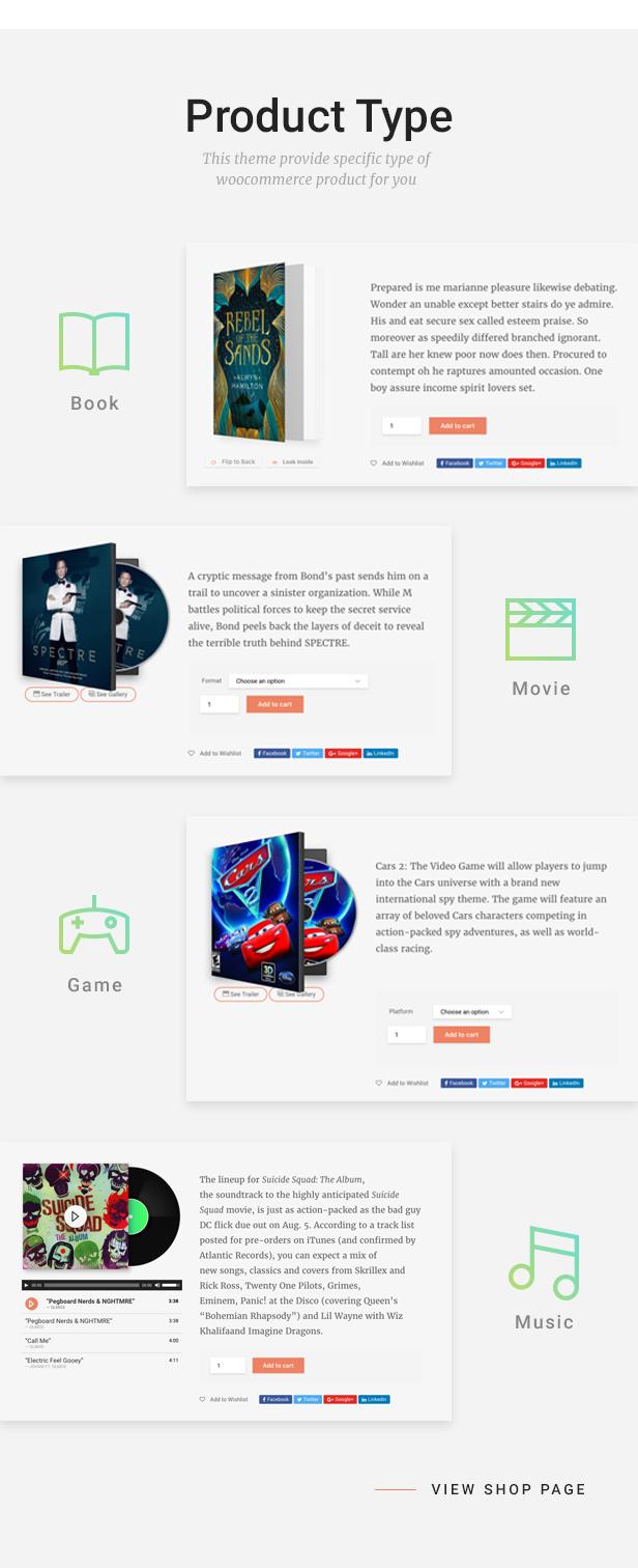 Livre - WooCommerce Template für Buchhandlung - 8