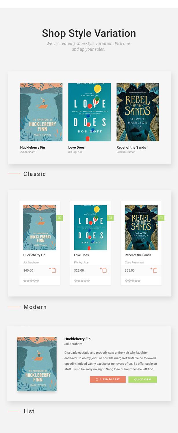 Livre - WooCommerce Template für Buchhandlung - 13
