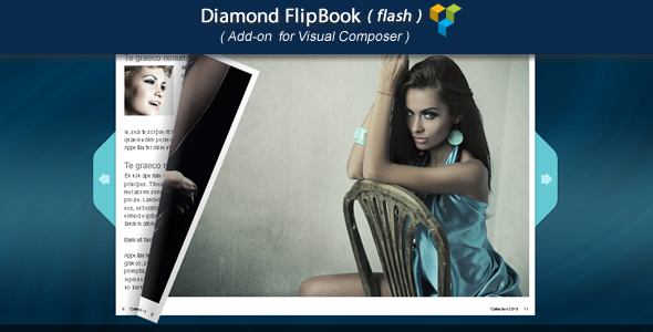Wordpress Add-On Plugin Visual Composer Add-on - Diamond FlipBook(flash)