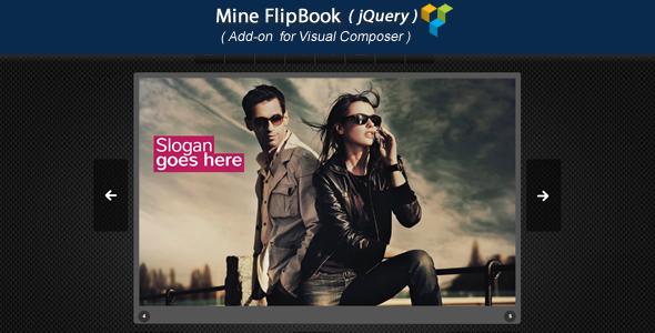 Wordpress Add-On Plugin Visual Composer Add-on - Mine jQuery FlipBook