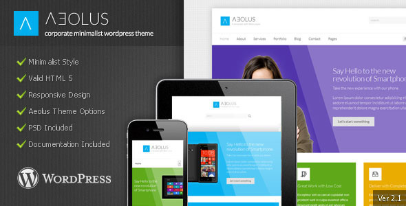 Wordpress Corporate Template Aeolus - Corporate Minimalist WordPress Theme