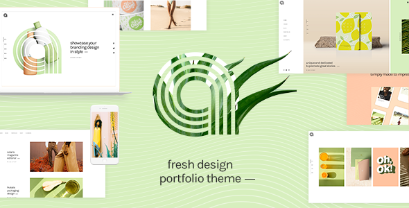 Wordpress Kreativ Template Agava - Fresh Design Portfolio Theme