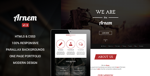 Wordpress Kreativ Template Arnem - Creative One Page Parallax WordPress Theme
