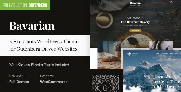 Wordpress Entertainment Template Bavarian - WordPress Theme for Restaurants