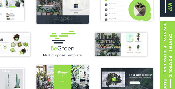 Wordpress Shop Template BeGreen - Multi-Purpose WordPress Theme for Planter - Landscaping- Gardening