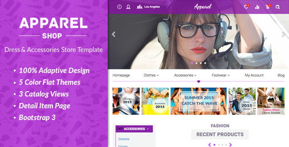 Wordpress Shop Template Apparel – Clothes and Accessories WooComerce Theme