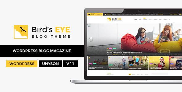 Wordpress Blog Template Blog - WordPress Blog Theme - Birds Eye