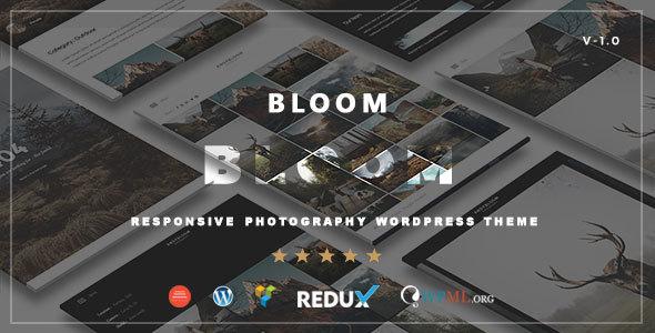 Wordpress Kreativ Template Bloom - Responsive Photography / Portfolio WordPress Theme