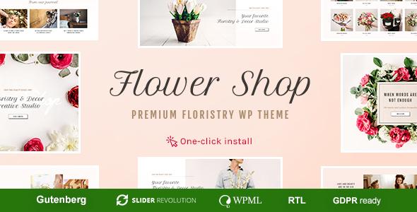 Wordpress Shop Template Flower Shop - Florist Boutique & Decoration Store WordPress Theme