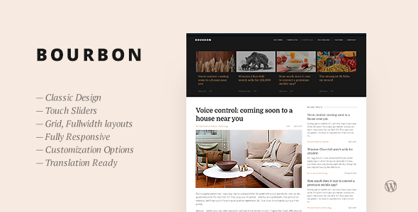 Wordpress Blog Template Bourbon — Responsive WordPress Blog Theme