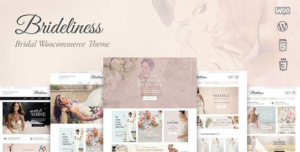 Wordpress Shop Template Brideliness - Wedding Shop WordPress WooCommerce Theme