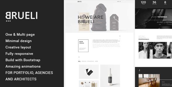 Wordpress Kreativ Template Brueli - Minimal Portfolio / Agency / Architect WordPress Theme