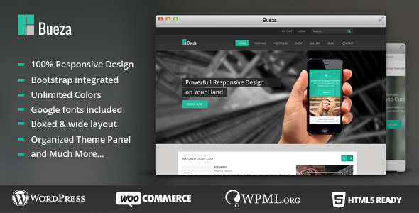 Wordpress Corporate Template Bueza - Responsive Multi Purpose Theme