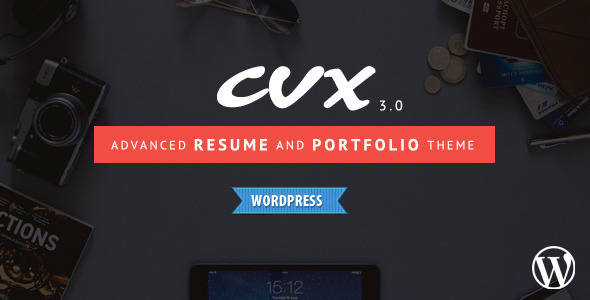 Wordpress Kreativ Template CVX - Resume and Portfolio WordPress Theme