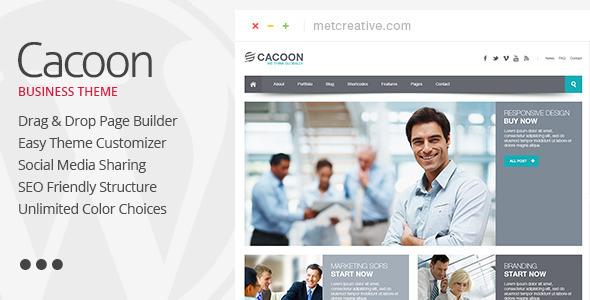Wordpress Corporate Template Cacoon - Responsive Business WordPress Theme